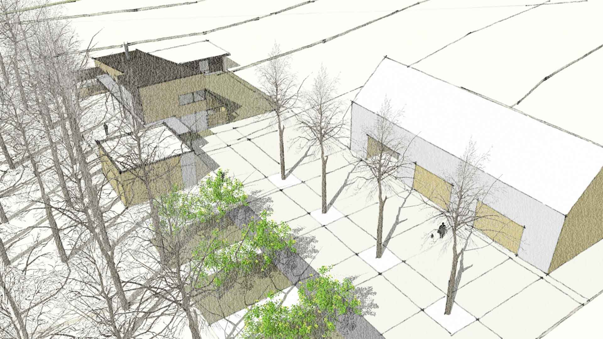 3D Exterior Design Study - Modern Farmhouse Concept - HAUS Architecture, Christopher Short, Indianapolis Architect