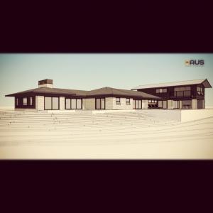 Midcentury Modern Renovation 3 - Grandview Drive - HAUS Architecture Rendering
