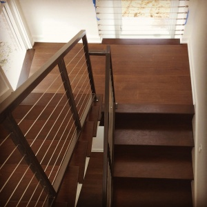 New Modern House Ditch - Architectural Stair - Christopher Short, Architect, Indianapolis, HAUS Architecture