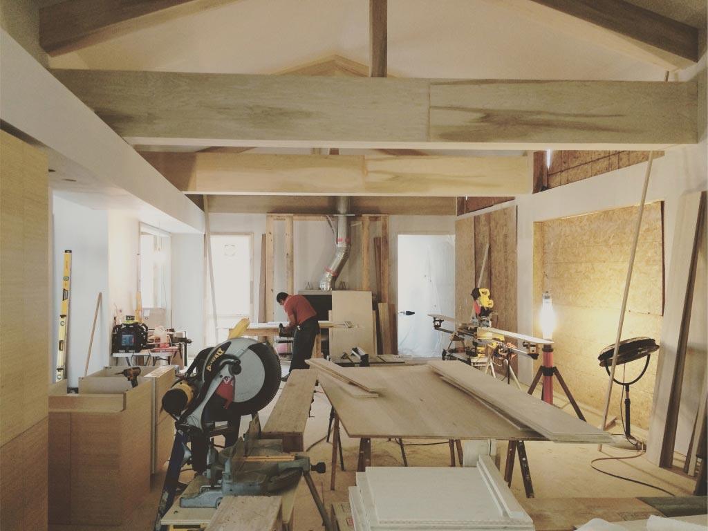 New Modern House Ditch - Interior Progress