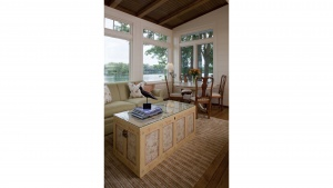 Nantucket Bay Shingle Style Lakehouse - Lake View from Sitting Area - HAUS Architecture