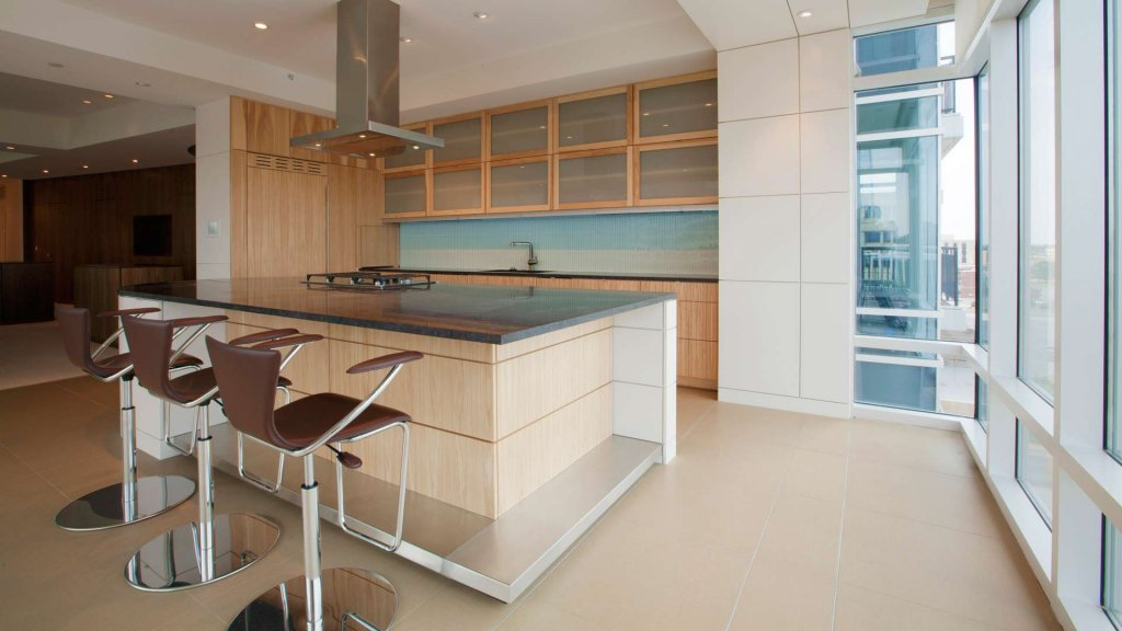 Urban Mid Rise Flat - Modern Kitchen - Christopher Short, Architect, Indianapolis, HAUS Architecture