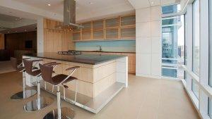 Urban Mid Rise Flat - Modern Kitchen - Christopher Short, Architect, Indianapolis, HAUS Architecture