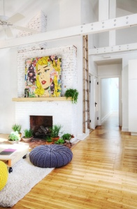10 Innovative Ways to Decorate w Ladders - POP ART Apartment Therapy - HAUS Architecture, Christopher Short, Indianapolis Architect