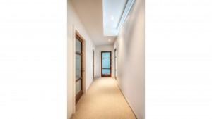 Urban Mid Rise Flat - Bedroom Hallway - HAUS Architecture, Christopher Short, Indianapolis Architect