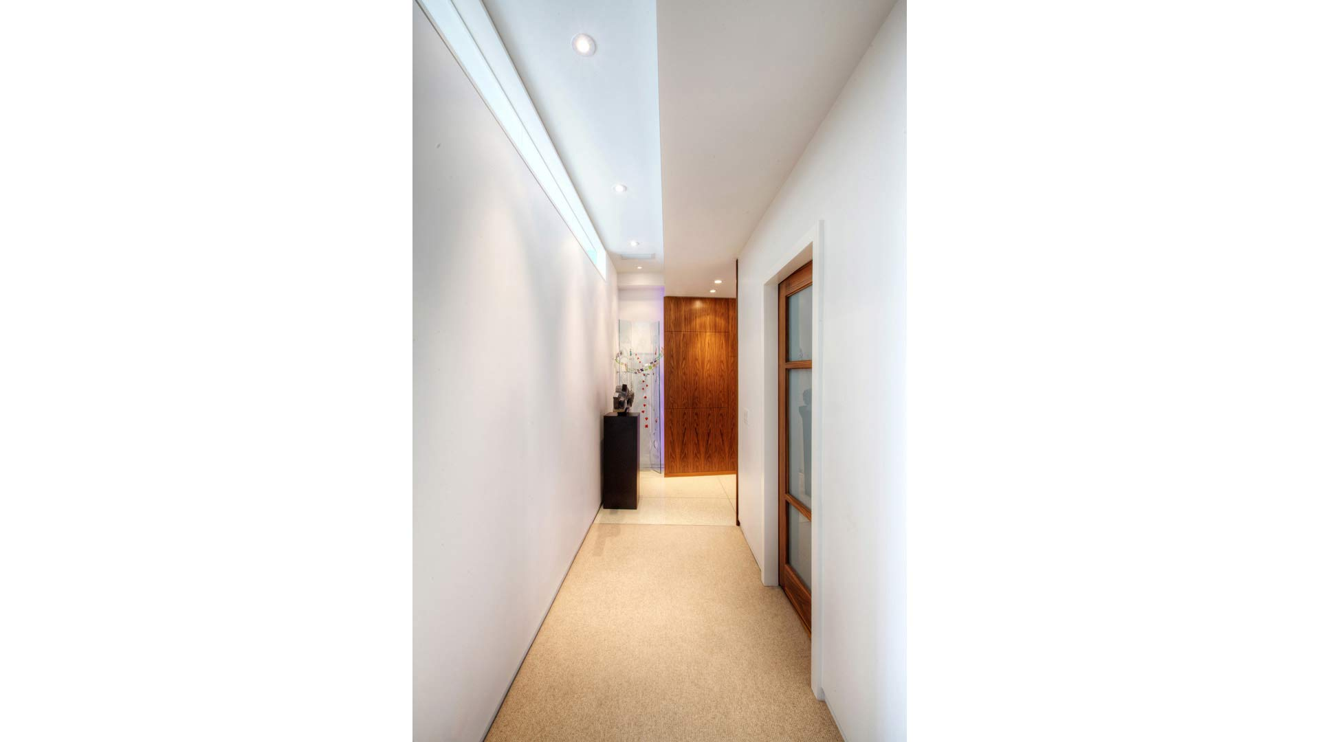 Urban Mid Rise Flat - Bedroom Hallway - HAUS Architecture, Christopher Short, Indianapolis Architect