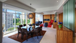 Urban Mid Rise Flat - Open Concept Living/Dining - HAUS Architecture, Christopher Short, Indianapolis Architect