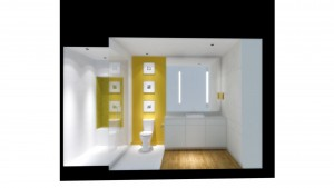 Urban Mid Rise Flat - Bathroom Rendering - HAUS Architecture
