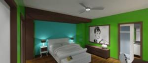 Urban Mid Rise Flat - Bedroom Study - HAUS Architecture