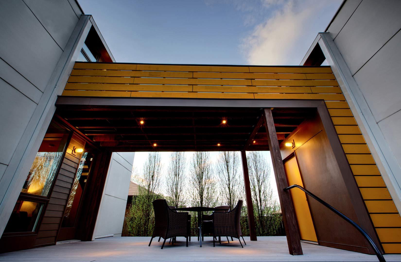 Classic Irvington Tudor Remodel - Housequake - Bridge Spans House and Studio - HAUS Architecture, Christopher Short, Indianapolis Architect