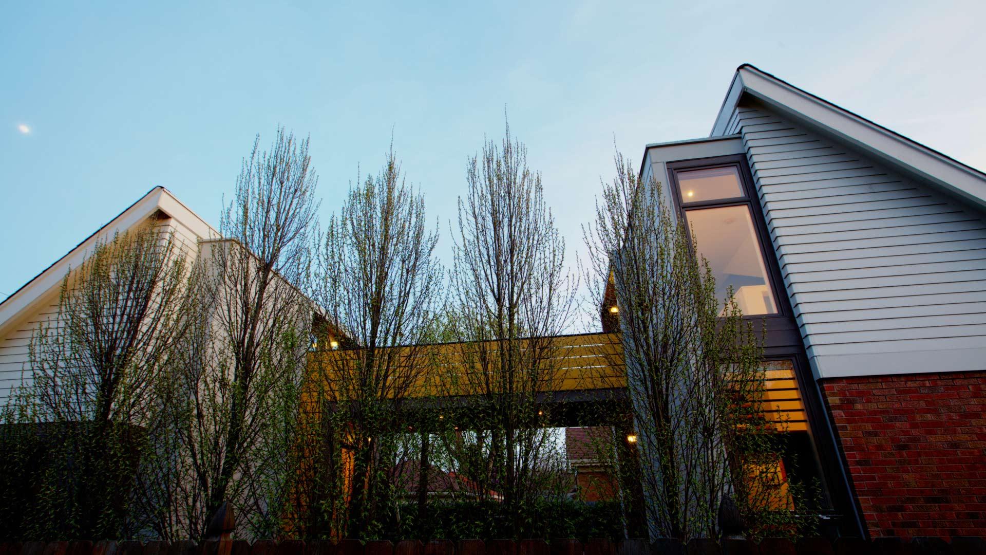 Classic Irvington Tudor Remodel - Bridge Spans House and Studio - HAUS Architecture, Christopher Short, Indianapolis Architect