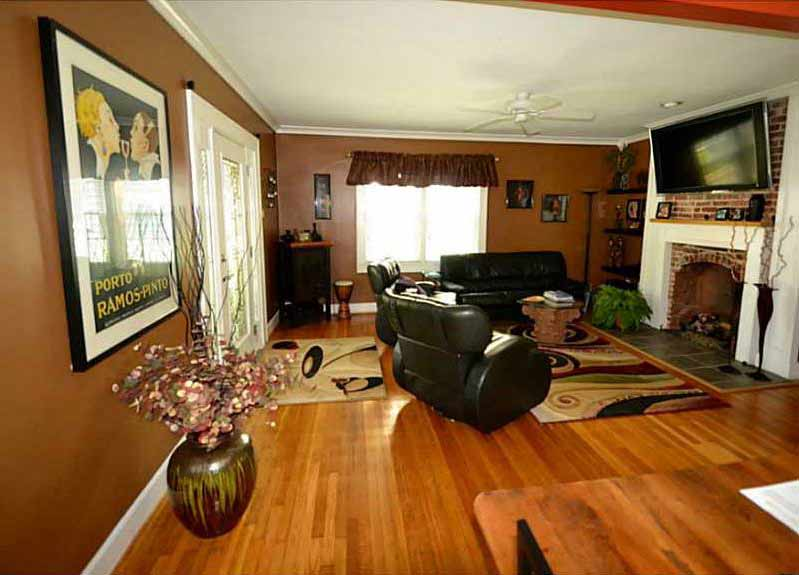 Broad Ripple Bungalow - Before Living Room