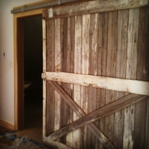Broad Ripple Bungalow - Barn Door Reclaimed Wood