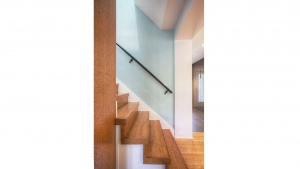 Butler Tarkington Modern Tudor - Back Stair Detail - HAUS Architecture, Christopher Short, Indianapolis Architect