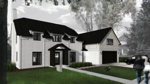 Butler Tarkington Modern Tudor - Front Elevation View, HAUS Architecture, WERK Building Modern