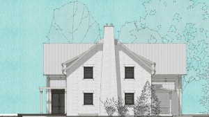 Butler Tarkington Modern Tudor - Schematic Elevation - HAUS Architecture, WERK Building Modern