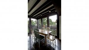 Butler Tarkington Modern Tudor - Screened Porch - HAUS Architecture, WERK Building Modern, Christopher Short, Indianapolis Architect