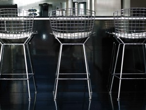 Urban Industrial Interior - Bertoia Chairs at Bar - HAUS Architecture, WERK Building Modern
