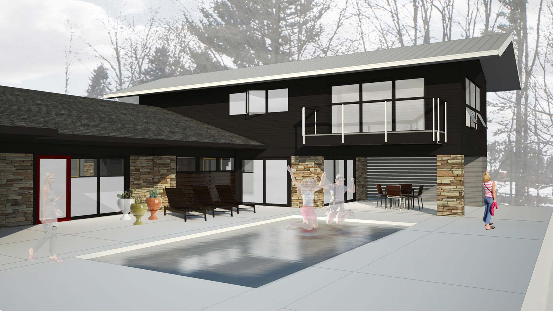 Midcentury Modern Renovation 3 - HAUS Architecture, Christopher Short, Indianapolis Architect