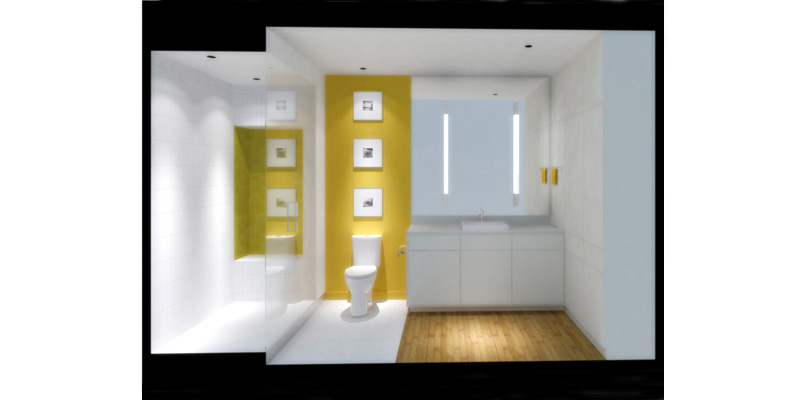Flat 703 - Bathroom Rendering