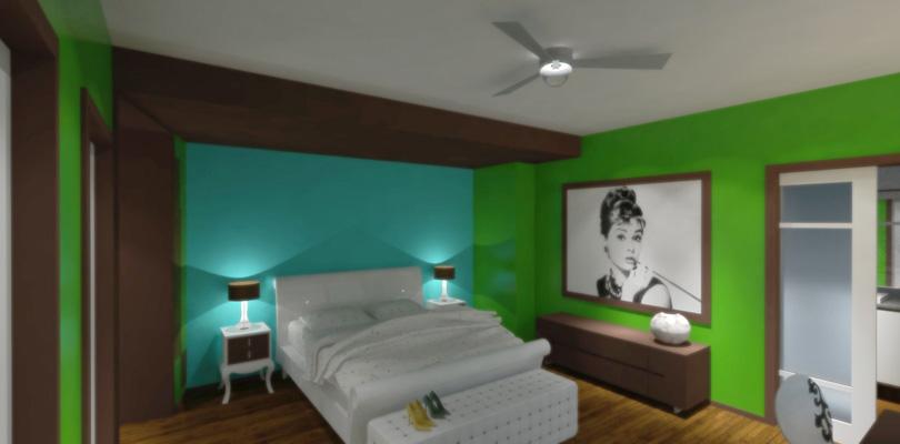 Flat 703 - Bedroom Study