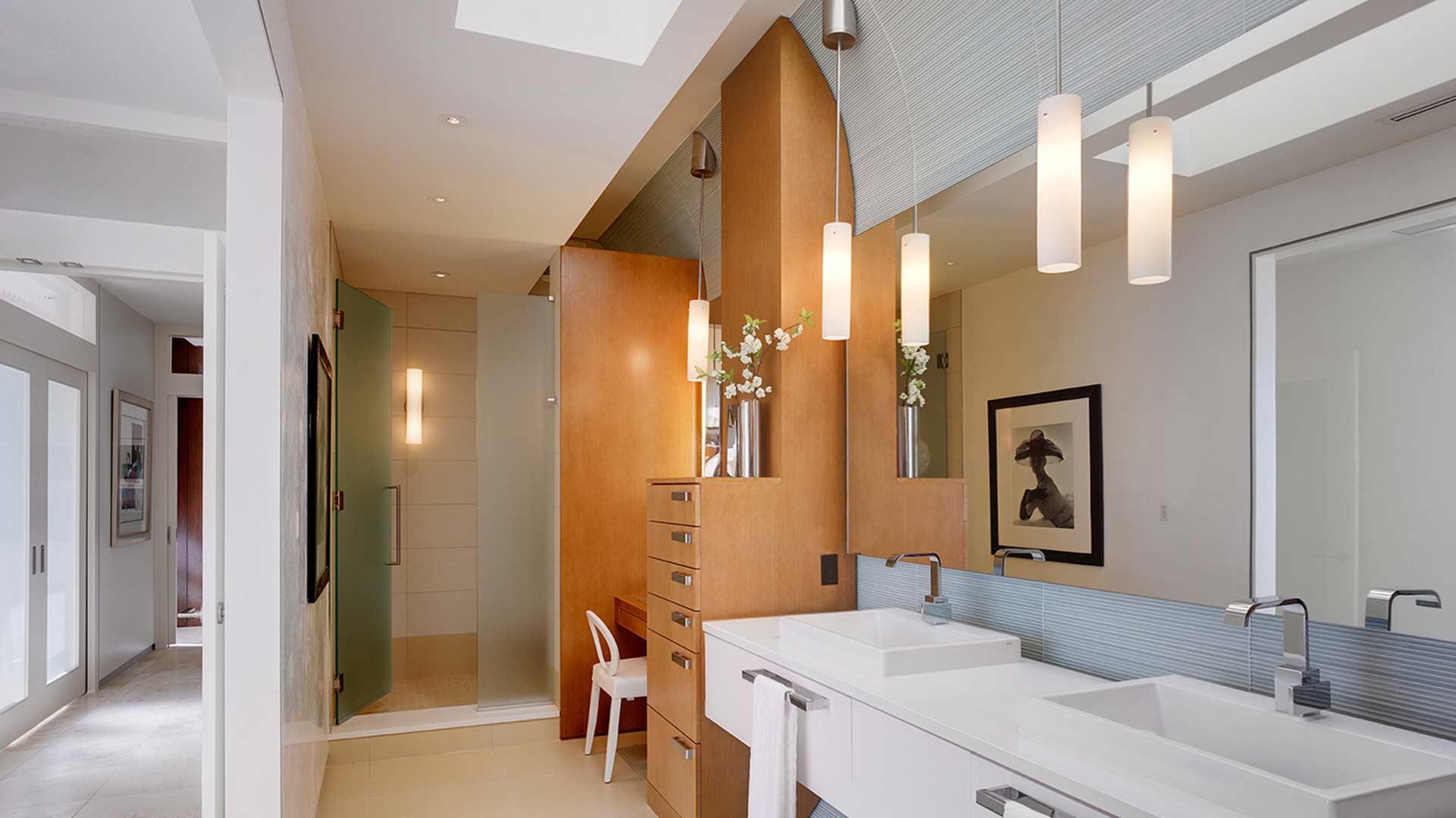 Adagio Penthouse Interior, Master Spa Bathroom, HAUS Architecture, Christopher Short, Indianapolis Architect