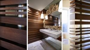 Adagio Penthouse Interior, Walnut Screenwall Details, HAUS Architecture, Christopher Short, Indianapolis Architect