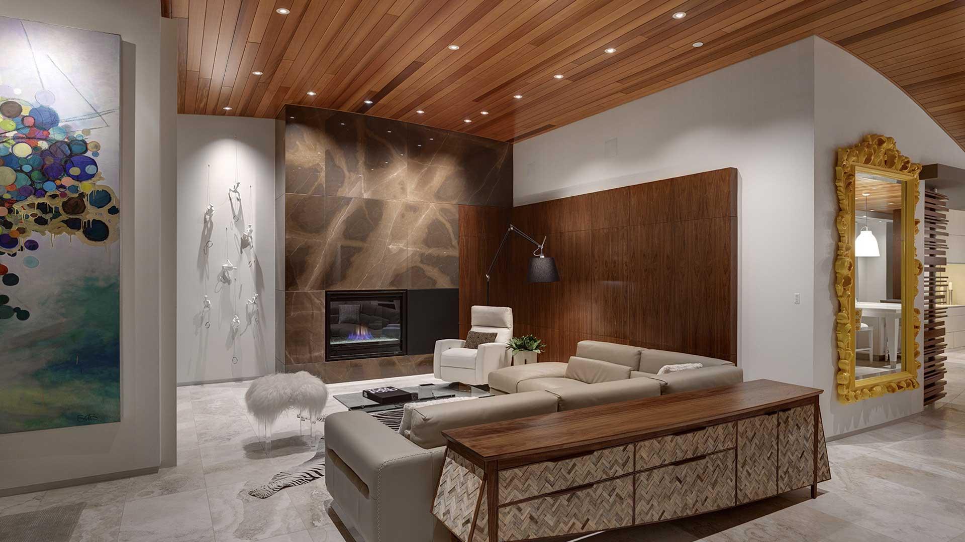 Adagio Penthouse Interior, Living Room View, HAUS Architecture