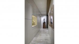 Adagio Penthouse Interior - Sculpture Gallery Hallway - HAUS Architecture, Christopher Short, Indianapolis Architect