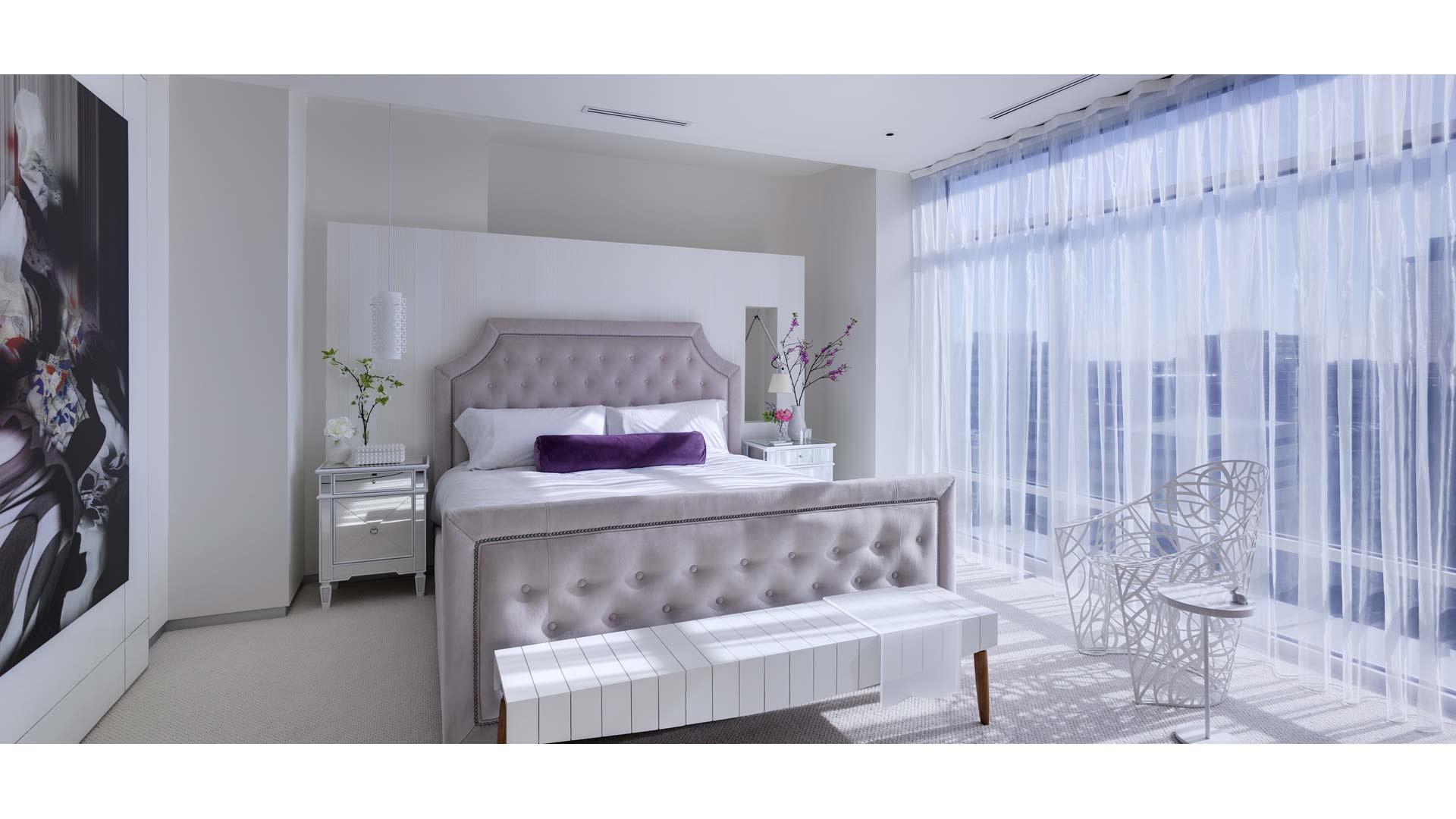 Adagio Penthouse Interior - Master Bedroom Daylight - HAUS Architecture, Christopher Short, Indianapolis Architect
