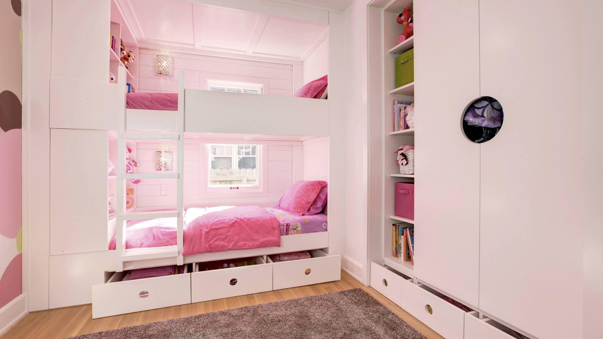 Classic Irvington Tudor Remodel - Custom Built-in Bunk Beds - HAUS Architecture, WERK Building Modern