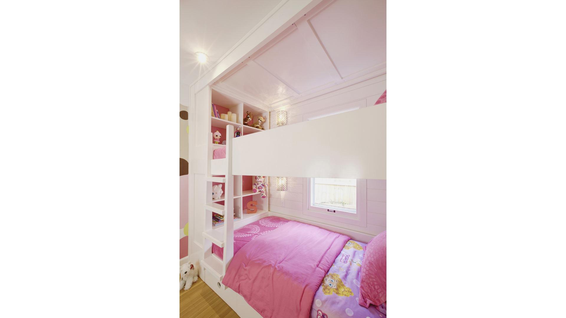 Classic Irvington Tudor Remodel - Custom Bunk Beds - HAUS Architecture, WERK Building Modern, Christopher Short, Indianapolis Architect