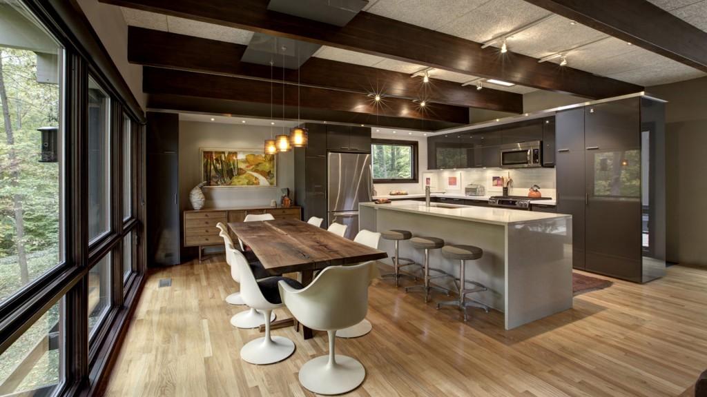 Midcentury Modern Kitchen Renovation - HAUS Architecture, WERK Building Modern, Christopher Short, Indianapolis Architect