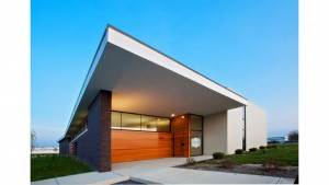 Brand Photography Studio, Front Entry Elevation, HAUS Architecture, Christopher Short, Indianapolis Architect