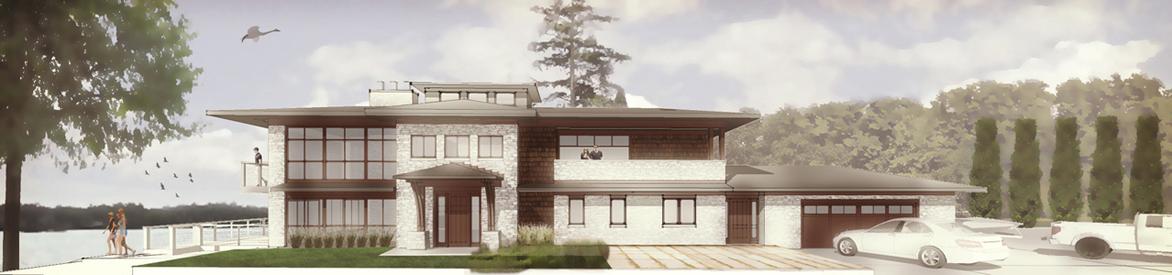 New Modern Lakehouse 2 - Syracuse Lake - HAUS Architecture, Christopher Short, Indianapolis Architect