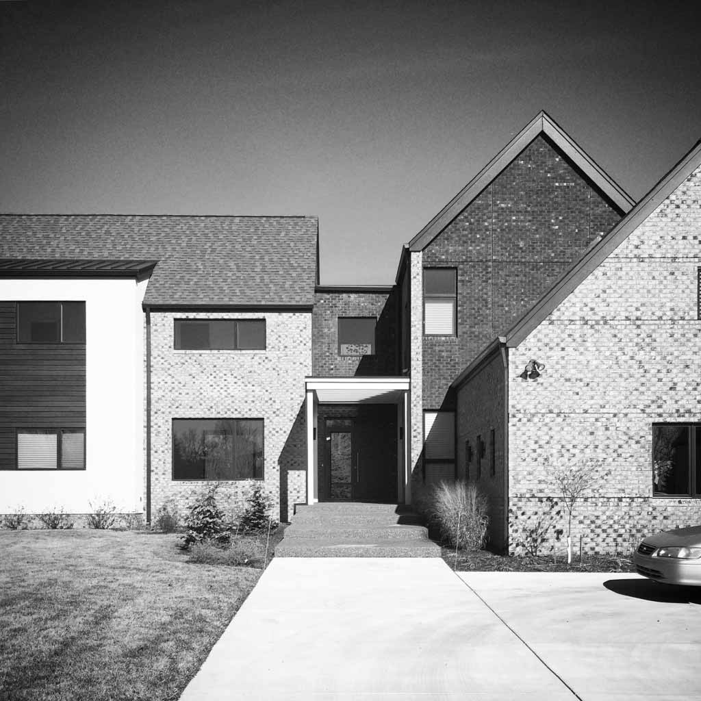 New Modern House Treesdale - Entry Detail - Christopher Short, Architect, Indianapolis, HAUS Architecture