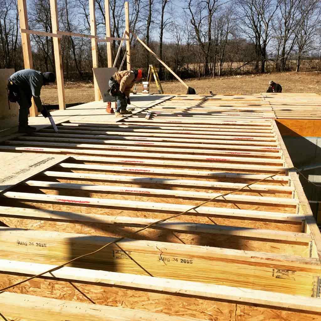 framing speeds forward - WERK Building Modern
