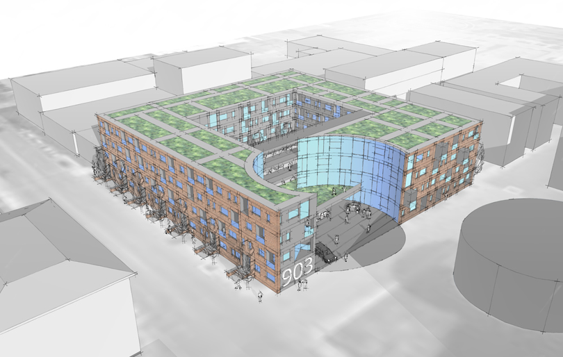Downtown Multi Use Design Proposal - HAUS Architecture, Christopher Short, Indianapolis Architect