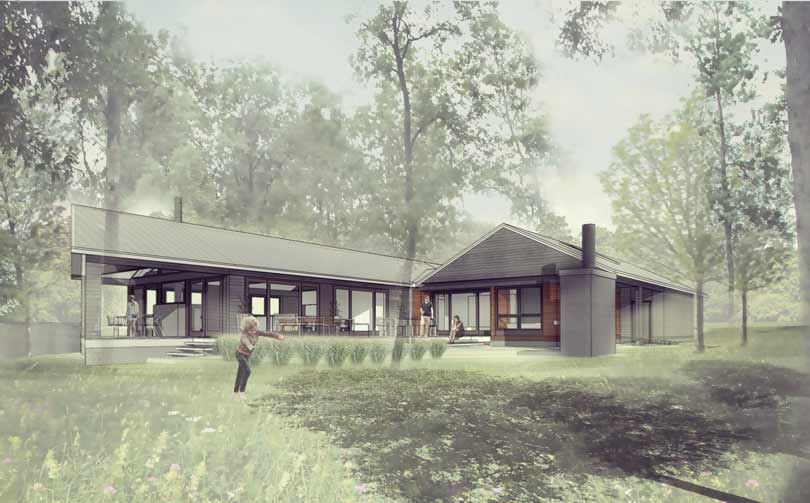 New Modern Lakehouse - Monon Indiana - HAUS Architecture, Christopher Short, Indianapolis Architect
