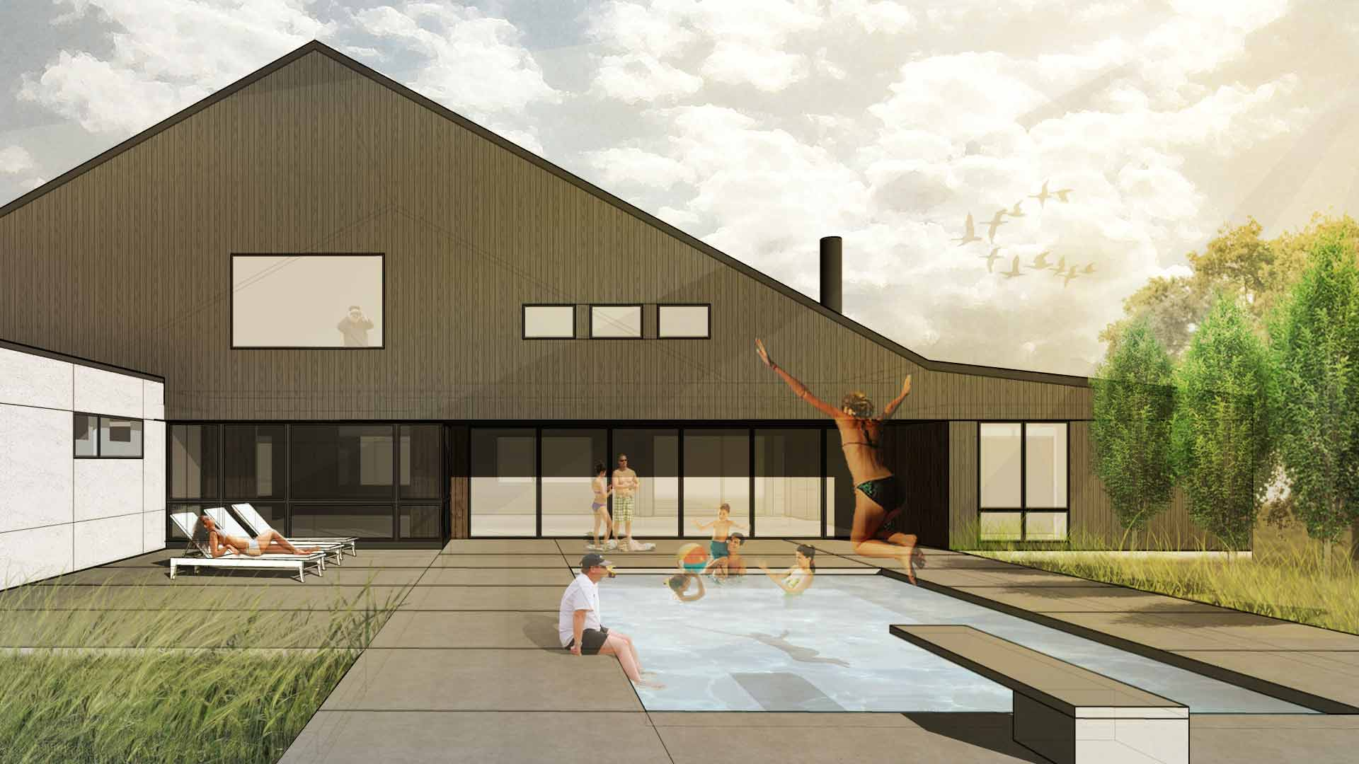 New Modern House 5 - New Modern Farmhouse - HAUS Architecture, Christopher Short, Indianapolis Architect
