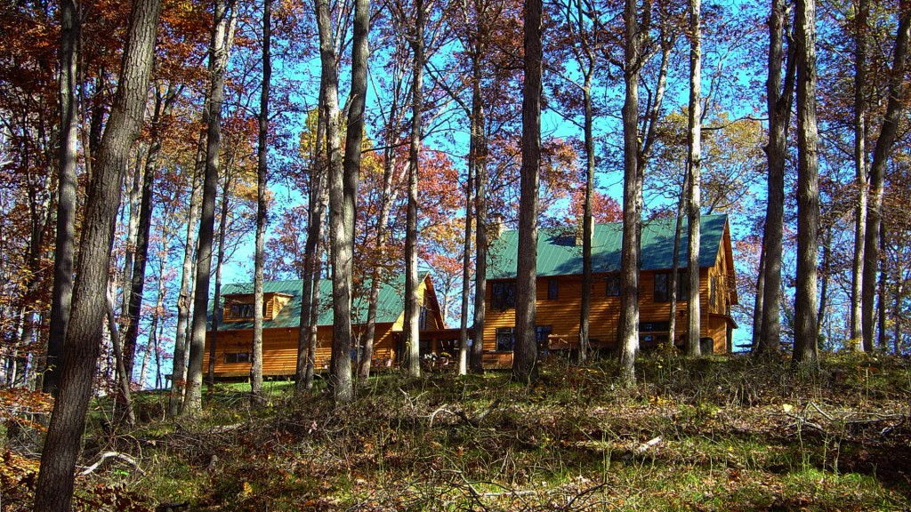 Nashville Cabin Retreat, West Elevation Autumn, HAUS Architecture, Christopher Short, Indianapolis Architect