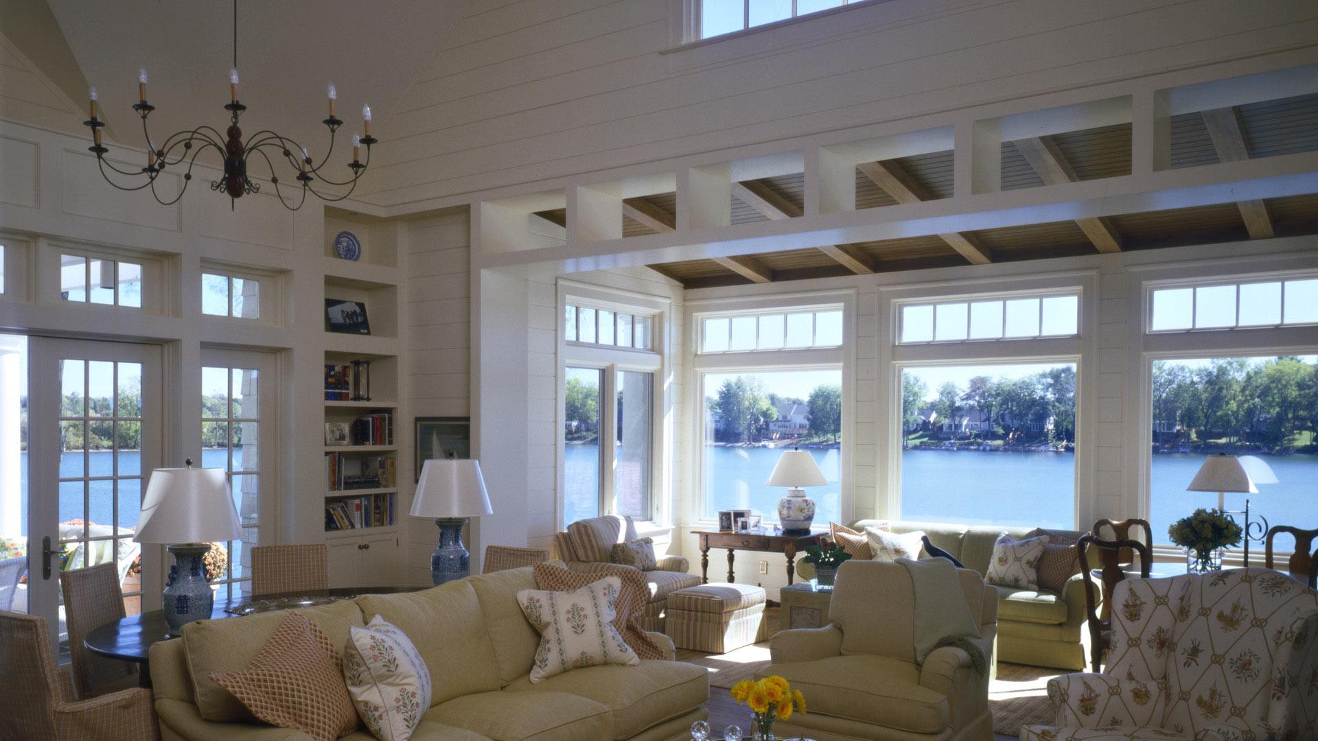 Nantucket Bay Shingle Style - Lake View - HAUS Architecture, Christopher Short, Indianapolis Architect