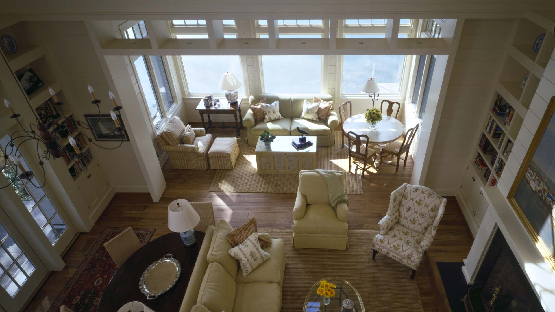 Nantucket Bay Shingle Style - Loft Down View - HAUS Architecture