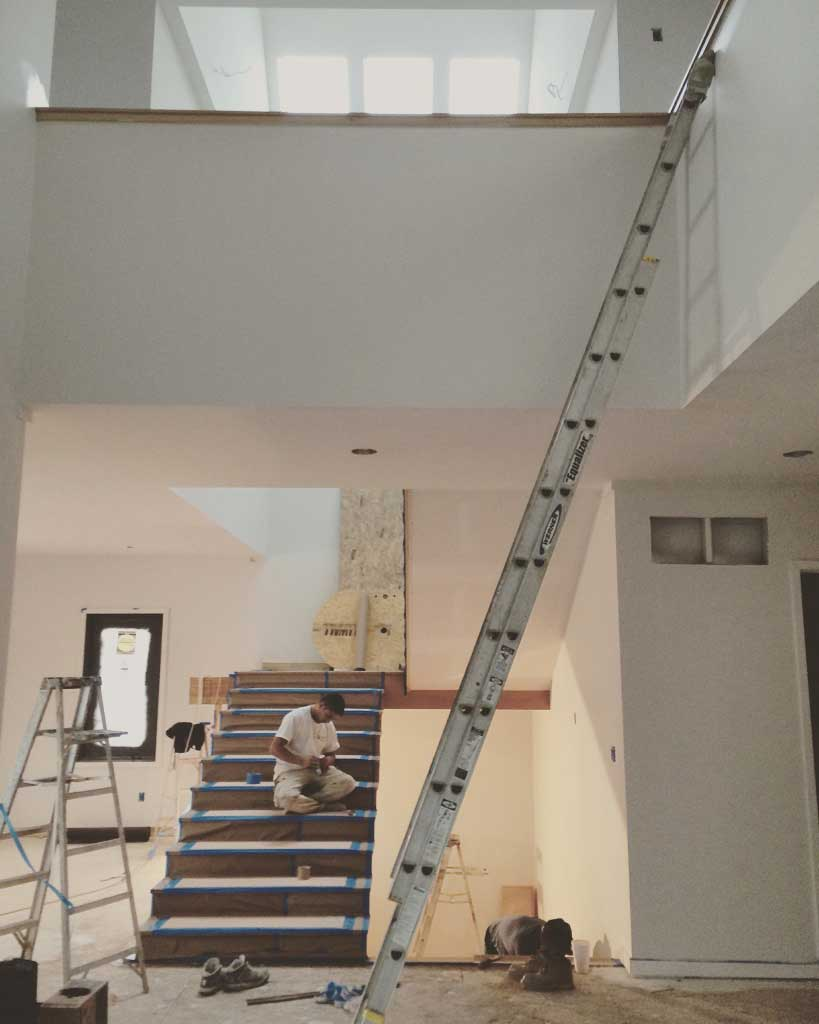 New Modern House Treesdale - Monumental Stair Progress