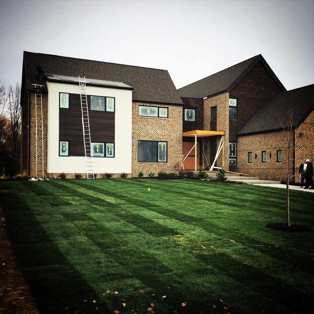 New Modern House Treesdale - Sod - Shell Getting Close - HAUS Architecture, Christopher Short, Indianapolis Architect