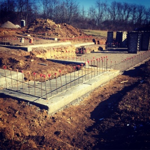 New Modern House 1 - Footings Poured - HAUS Architecture, WERK Building Modern, Christopher Short, Indianapolis Architect