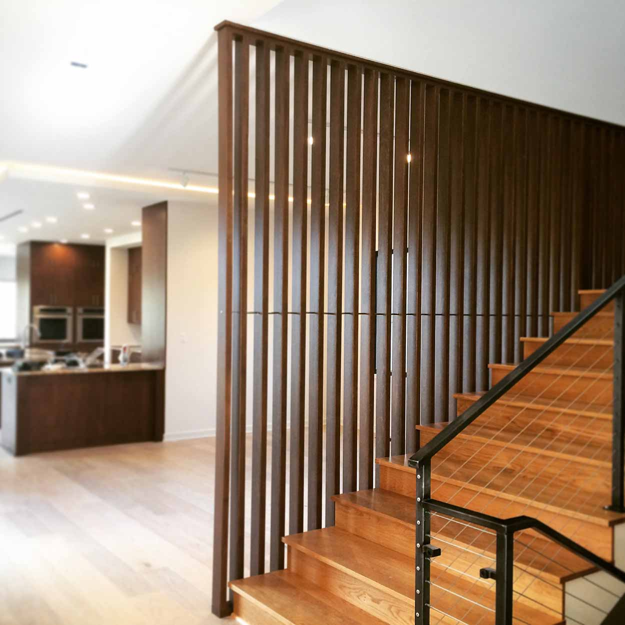 New Modern House Treesdale - Stair Screenwall Progress