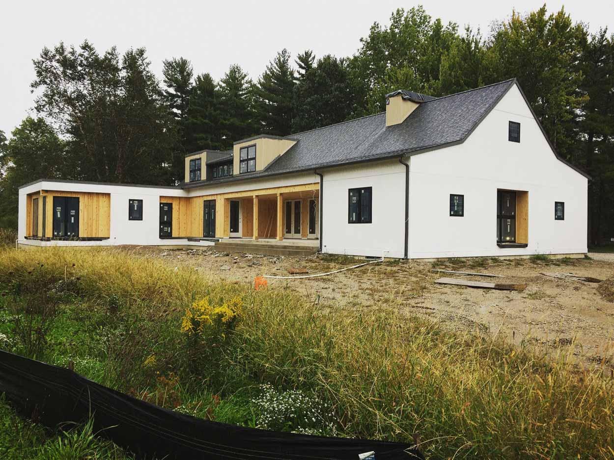 New Modern Farmhouse 3 - Exterior Progress - Christopher Short, Architect, Indianapolis, HAUS Architecture