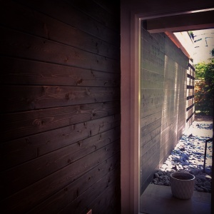 Midcentury Modern Renovation 2 - Inside Out Entry Wall - Christopher Short, Architect, Indianapolis, HAUS Architecture