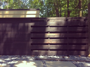 Midcentury Modern Renovation 2 - Inside Out Entry Wall Become Privacy Fence - Christopher Short, Architect, Indianapolis, HAUS Architecture